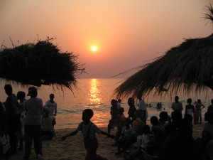 Sunset at Lakka Beach, Sierra Leone