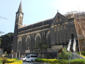 Anglican Cathedral where the services are held in Swahili except for each first Sunday of the month when it is conducted in English