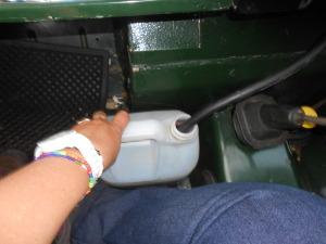 Getting to De Rust on the five litres of petrol we bought in Klaarstroom