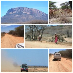 On the road from Isiola to Marsabit