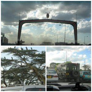 Driving into Nairobi