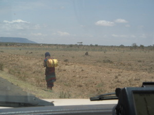A Samburu woman near the Moyale border post