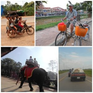 Various modes of transport