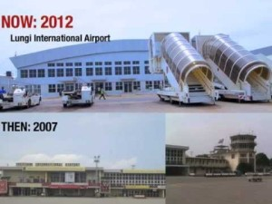 The before and after look of the airport